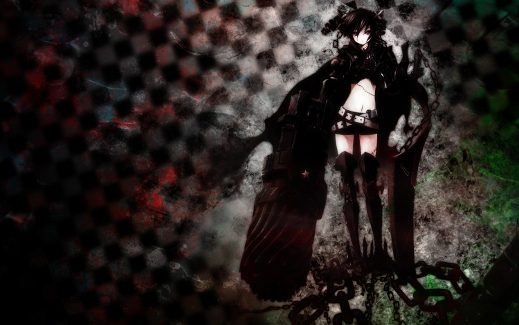 Fonds d'écran Manga Black Rock Shooter Last Fight is done