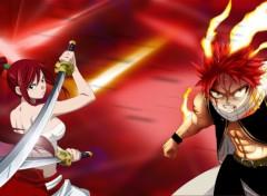 Fonds d'écran Manga Erza et Natsu