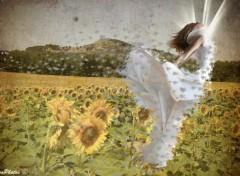 Wallpapers Digital Art Fuite de Tournesols