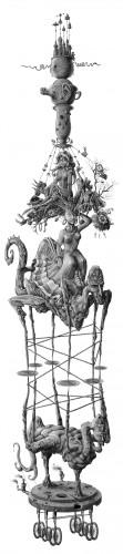 Fonds d'écran Art - Numérique Surréalisme - Symbolisme - Onirisme Sur le fromage des étoiles et du destin