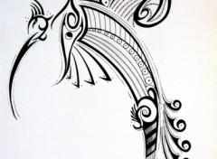 Fonds d'écran Art - Crayon Oiseau tribal