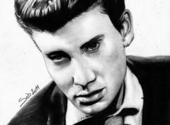 Fonds d'écran Art - Crayon Johnny Hallyday