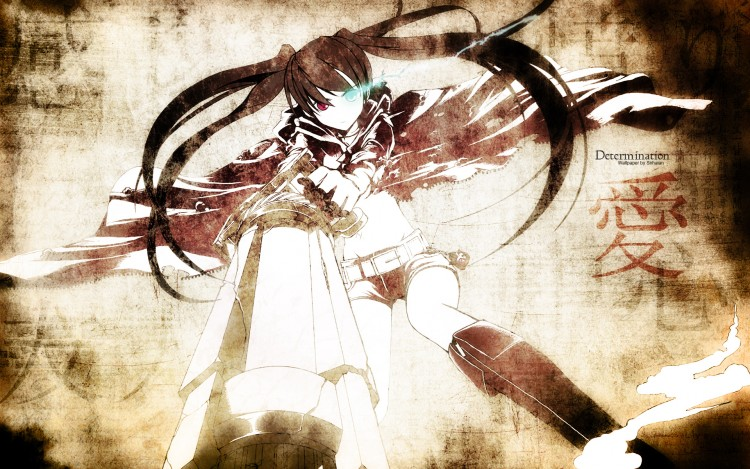 Fonds d'écran Manga Black Rock Shooter Determination