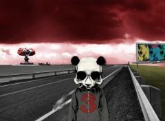 Wallpapers Digital Art smoking panda
