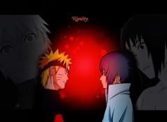 Fonds d'écran Manga Naruto VS Sasuke
