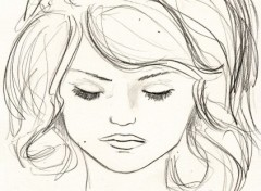 Wallpapers Art - Pencil sketch girl