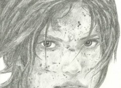 Wallpapers Art - Pencil Tomb Raider Lara Croft au crayon