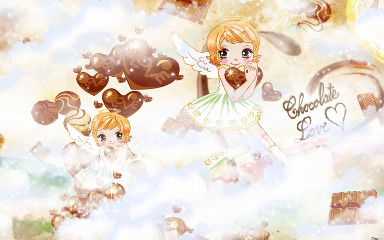 Wallpapers Manga Miscellaneous - Angels Chocolate love