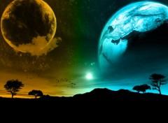 Fonds d'écran Art - Numérique  planete au loin