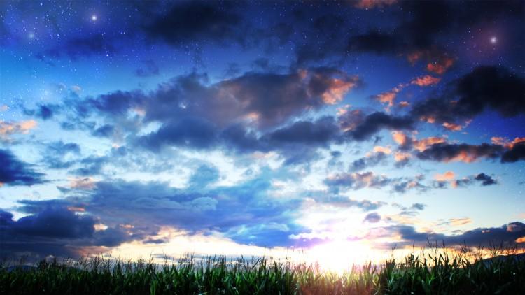 Fonds d'écran Nature Ciel - Nuages Etoiles du soir