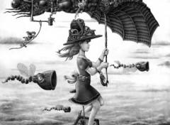 Fonds d'écran Art - Numérique Mon joli parapluie