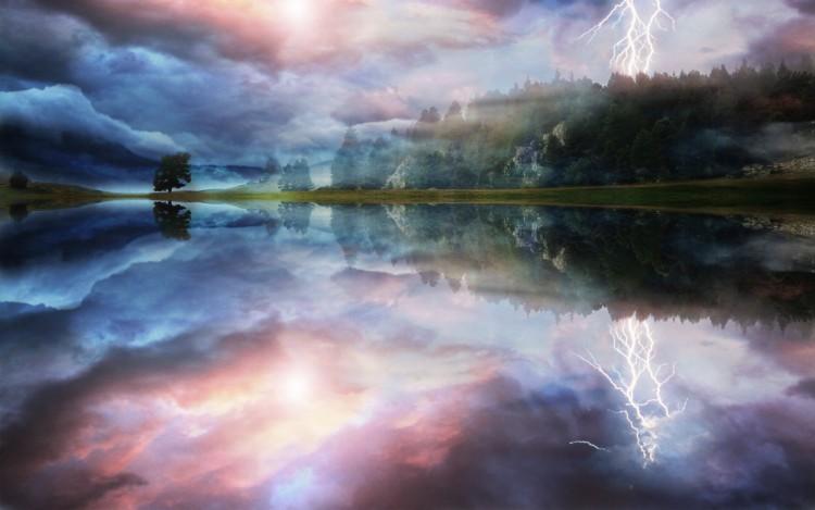 Fonds d'écran Nature Lacs - Etangs Apocalypse lake