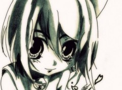 Fonds d'écran Art - Crayon Kawaii Neko Girl