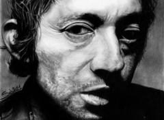Fonds d'écran Art - Crayon Serge Gainsbourg