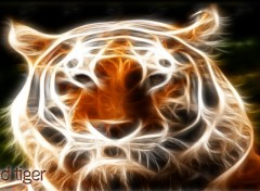 Wallpapers Animals Tigre fractal