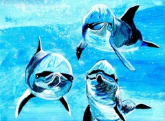 Wallpapers Art - Painting dauphins