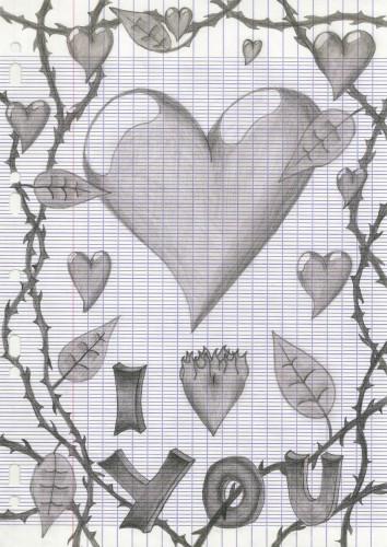 Wallpapers Art - Pencil Love - Friendship Dessin d'amour