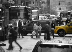 Wallpapers Trips : North America Foule dans une rue de New York