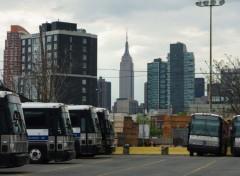 Fonds d'écran Voyages : Amérique du nord New York - Dépôt de bus dans le quartier du Queens