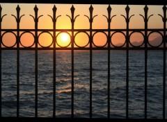Fonds d'écran Nature coucher de soleil en crête