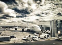 Fonds d'écran Avions Air France A380-800 pour Montréal