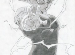 Wallpapers Art - Pencil Majin Vegeta