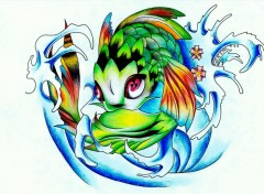 Fonds d'écran Art - Crayon Koi