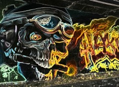 Wallpapers Art - Painting Bad Skull