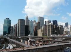 Fonds d'écran Voyages : Amérique du nord Manhattan Vu Depuis Le Pont De brooklyn