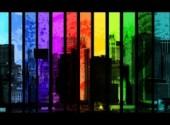 Fonds d'écran Art - Numérique Rainbow town