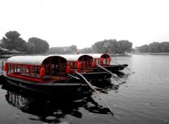 Fonds d'écran Bateaux Le lac de Pékin