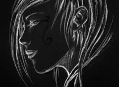 Fonds d'écran Art - Crayon en noir et blanc