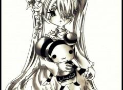 Fonds d'écran Art - Crayon Lolita Doll