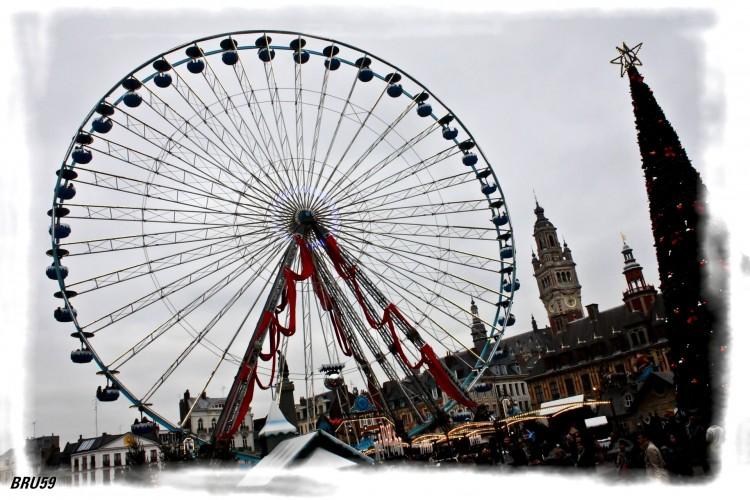 Fonds d'écran Objets Décorations de Noël Grande Roue de Lille