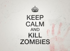 Fonds d'écran Fantasy et Science Fiction keep calm and kill zombies