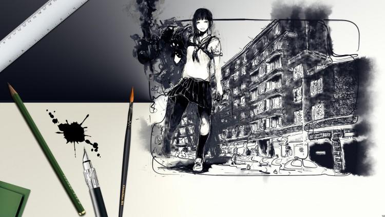 Wallpapers Art - Painting Angels & Demons Street Art