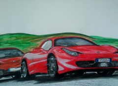 Wallpapers Art - Painting F458 VS MP4 12C
