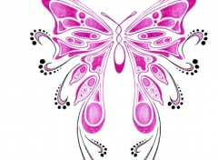 Wallpapers Art - Pencil Tattoo Butterfly