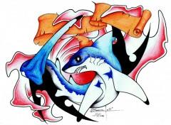 Wallpapers Art - Pencil Tattoo Shark