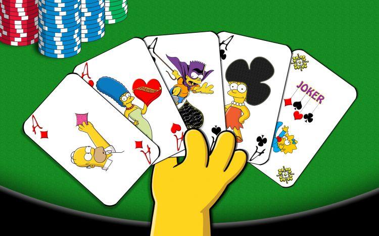 Fonds d'écran Dessins Animés Les Simpsons Simpsons' Poker