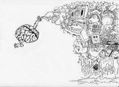 Art - Pencil exit the brain