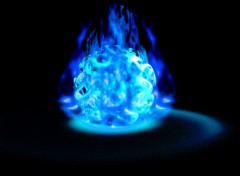 Digital Art flamme bleu