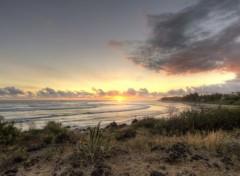 Nature Coucher de soleil sur la plage de 3 bassins