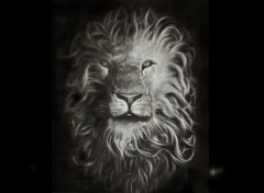 Art - Crayon lion
