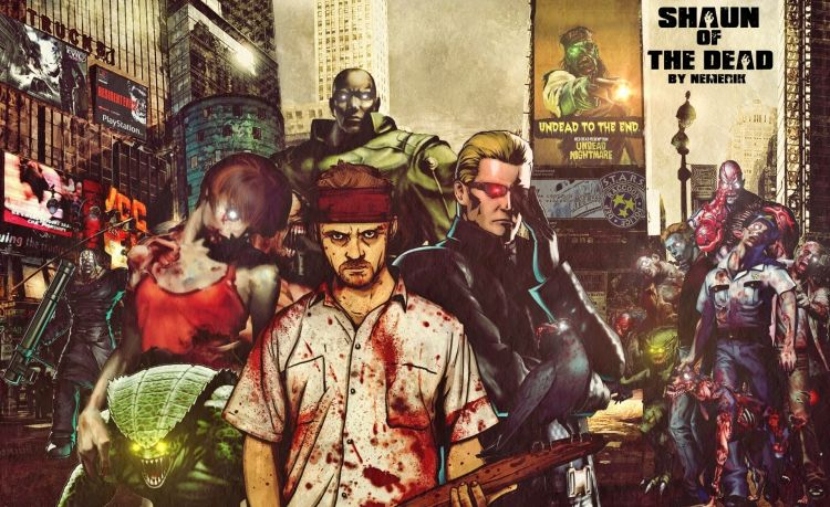 Wallpapers Video Games Resident Evil Shaun Of the Dead.
