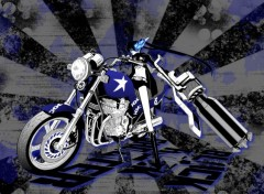 Manga Black rock shooter sur moto !