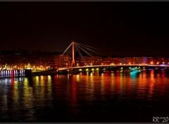 Constructions and architecture Lyon de nuit