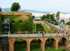 Constructions and architecture Chateau de Montjuc (Barcelone) - TILT-SHIFT