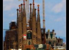 Voyages : Europe Sagrada Familia (tilt-shift)