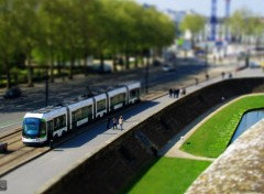 Voyages : Europe tramway de Nantes - tilt-shit